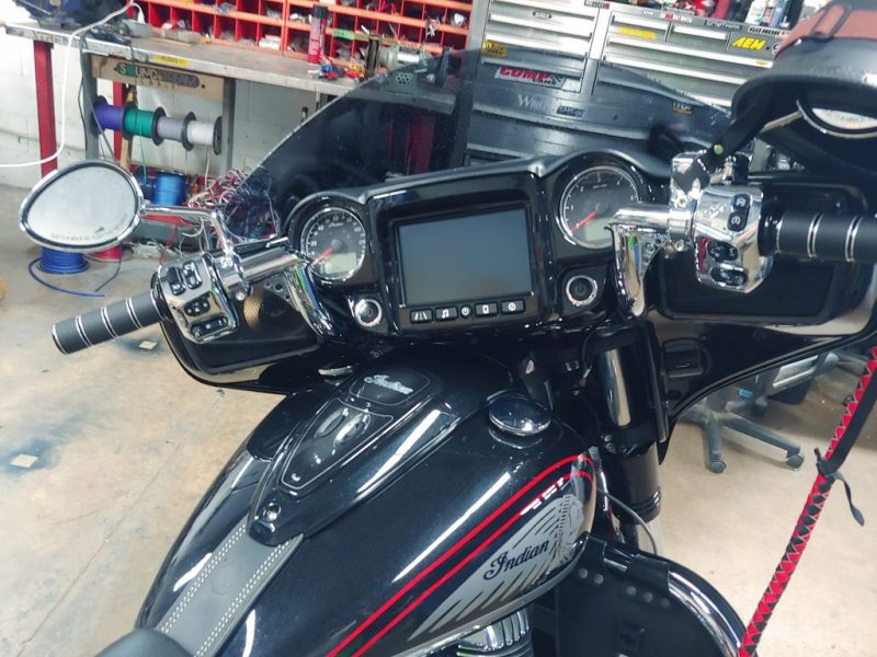 Indian Chieftain sound system upgrade