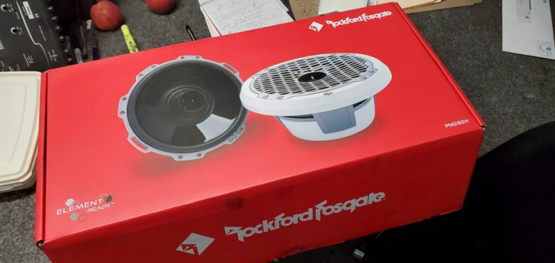 "Rockford Fosgate 8"" coaxial speakers"